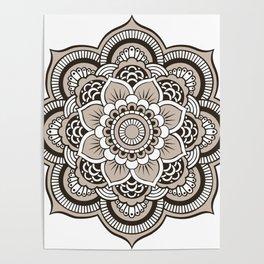 Beige Mandala Poster