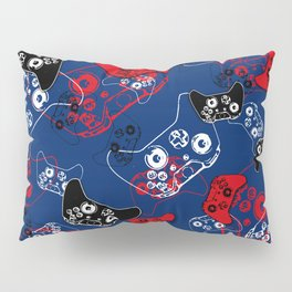 Video Game Red White & Blue 1 Pillow Sham