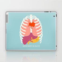 Hugs keep us alive Laptop & iPad Skin