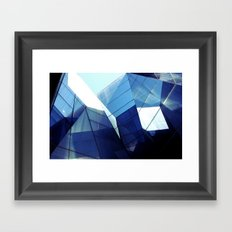 Diamond Glasses Framed Art Print