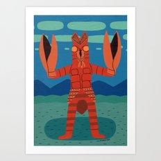 Alien Baltan Art Print