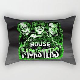 House of Monsters Phantom Frankenstein Dracula classic horror Rectangular Pillow