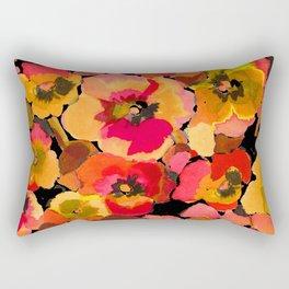 peach  floral Rectangular Pillow