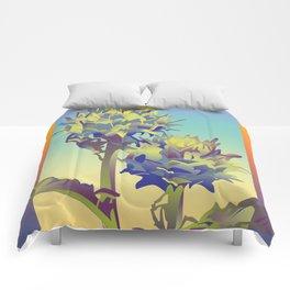 Sunset Thistle Comforters