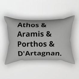 The Three Musketeers Names I Rectangular Pillow