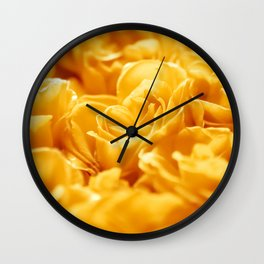 Loctaine in Yellow Wall Clock
