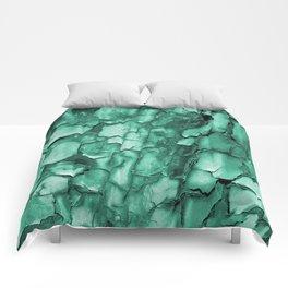 Flakey - Teal Comforters
