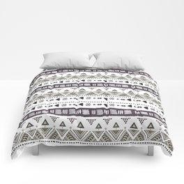 Native American Ornaments Watercolor Pattern Brown Comforters