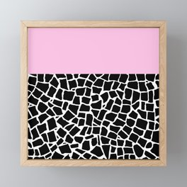 British Mosaic with Pink Boarder Framed Mini Art Print