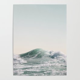 Waves and Sunrise Happy Summer Photography Ocean Beach Vibes Tropical Water Sea Poster