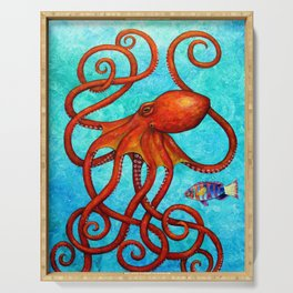 Distracted - Octopus and fish Serving Tray