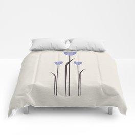 Minimal Bluebells Comforters