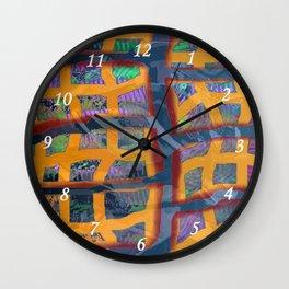 Yellow Line Wall Clock