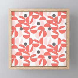 Living Coral Abstract Framed Mini Art Print