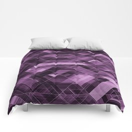 Abstract violet pattern Comforters