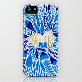 As If – Navy & Gold iPhone Case
