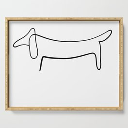 Picasso Dog Print Modern Sketch Picasso Serving Tray