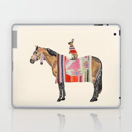 Horse with hare  Laptop & iPad Skin