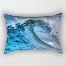 Looking Into The Tube Huntington Beach Pier Rectangular Pillow