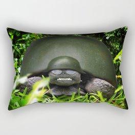 Slow Commando - Army Turtle Rectangular Pillow