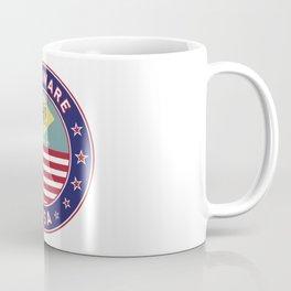 Delaware, Delaware t-shirt, Delaware sticker, circle, Delaware flag, white bg Coffee Mug