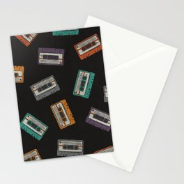 Cassette Tape Pattern Stationery Cards