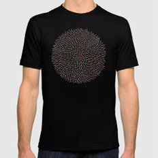Circle Murmuration MEDIUM Mens Fitted Tee Black