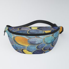 Abstract deep blue Fanny Pack