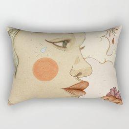thoughtful woman Rectangular Pillow