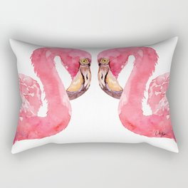 Pink Flamingo UriKuri Watercolour Rectangular Pillow