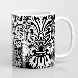 Black and Gray Damask Coffee Mug