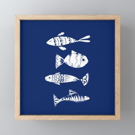 Sea fishes Framed Mini Art Print