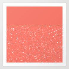 XVI - Peach 1 Art Print
