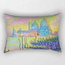 "Paul Signac ""Grand Canal (Venise)"" Rectangular Pillow"