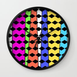 Diamonds and rainbows Wall Clock