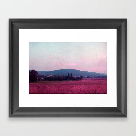 small mountains Framed Art Print