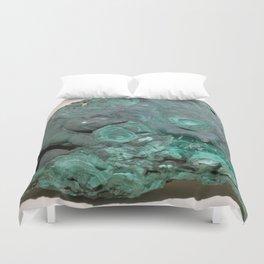 Natural Malachite Duvet Cover