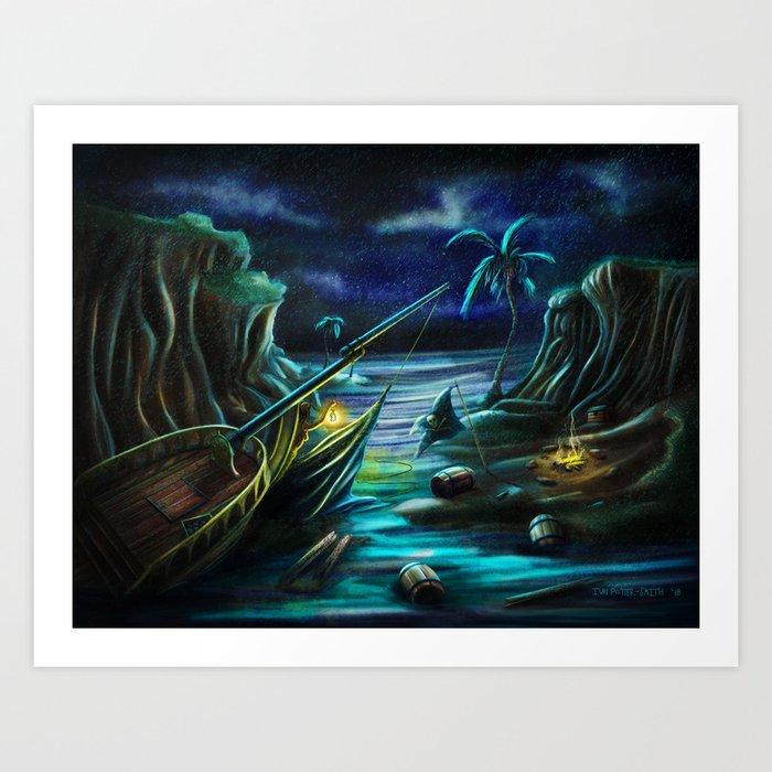 Shipwrecked! Art Print