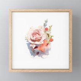 Flower Framed Mini Art Print