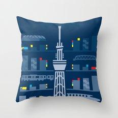 Tokyo Skytree Throw Pillow