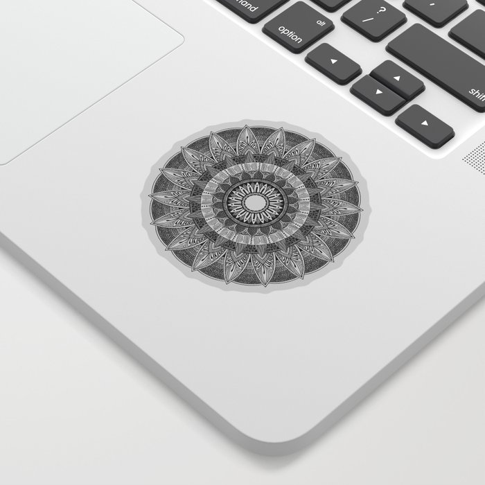 Mandala I BW Sticker