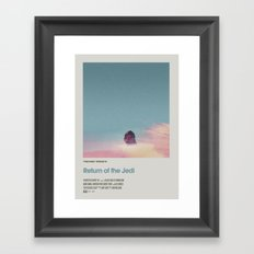 Retro Cinema Poster:Return of the Jedi Framed Art Print
