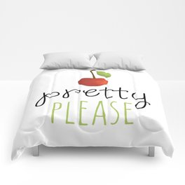 Pretty Please with a Cherry on top! Comforters