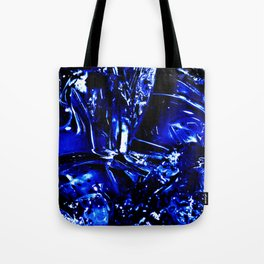 Liquid Cobalt Metal Tote Bag