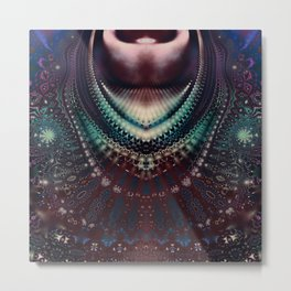 Fractal Royal Necklace Metal Print
