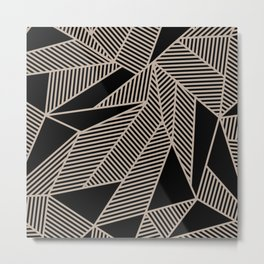 Geometric Abstract Origami Inspired Pattern Metal Print