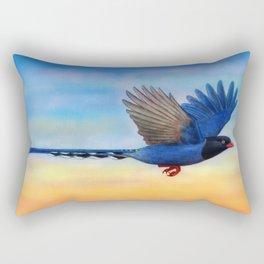 Taiwan Blue Magpies (2) Rectangular Pillow