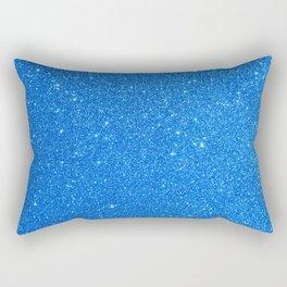 Blue Zircon December Capricorn Birthstone Shimmery Glitter Rectangular Pillow