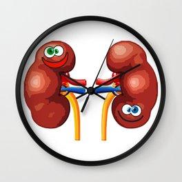 Happy Kidneys Wall Clock