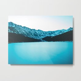 Clinton Gulch // Scenic Sunset Colorado Mountain Range Lake Forest Landscape Photography Decor Metal Print